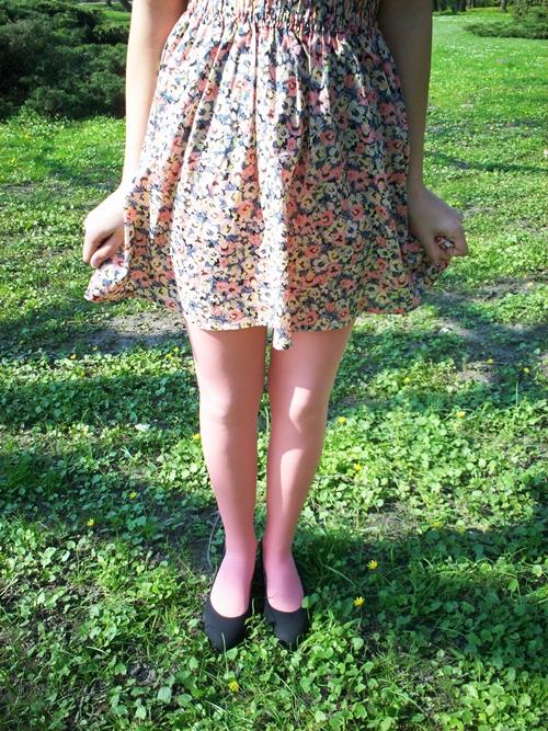 spódnica w kwiaty h&m