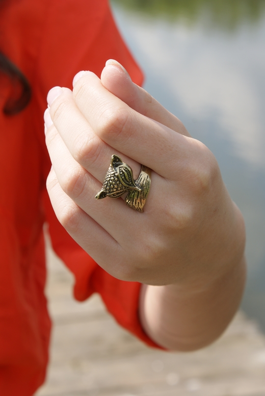pierścionek z lisem