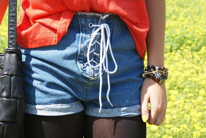 jeansowe szorty romwe