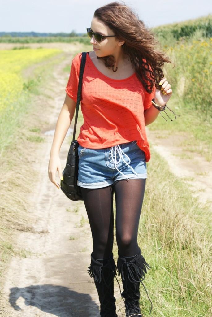 Jeans i frędzle