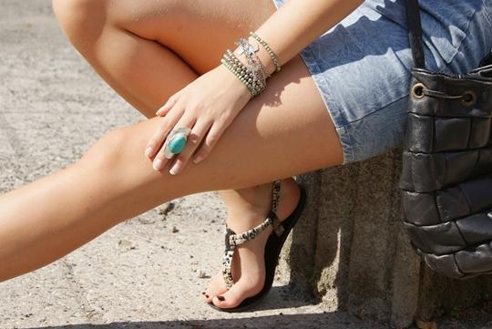 Jeansowa dopasowana spódnica