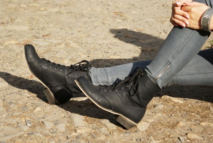 czarne workery czas na buty