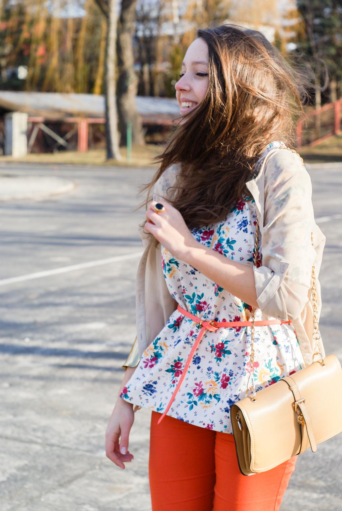 Lumpeksowe zakupy - bluzka w kwiaty