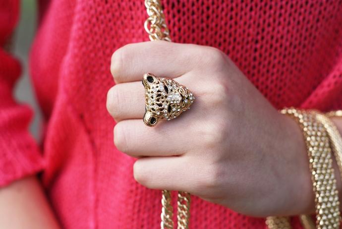 pierścionek z tygrysem