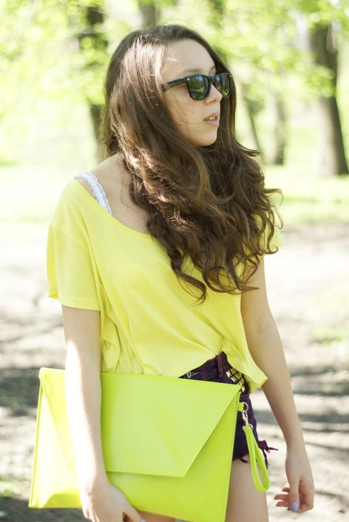 limonkowa torebka