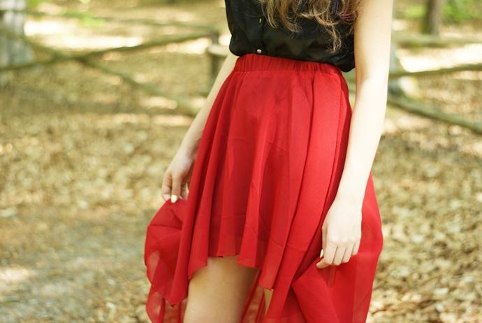 asymetryczna spódnica stylizacja blog
