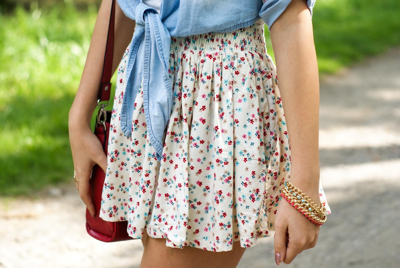 Kwiatowa stylizacja blog modowy