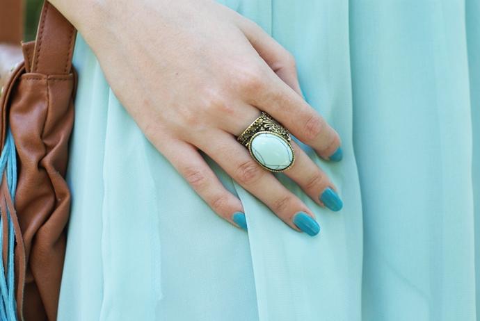miętowy pierścionek