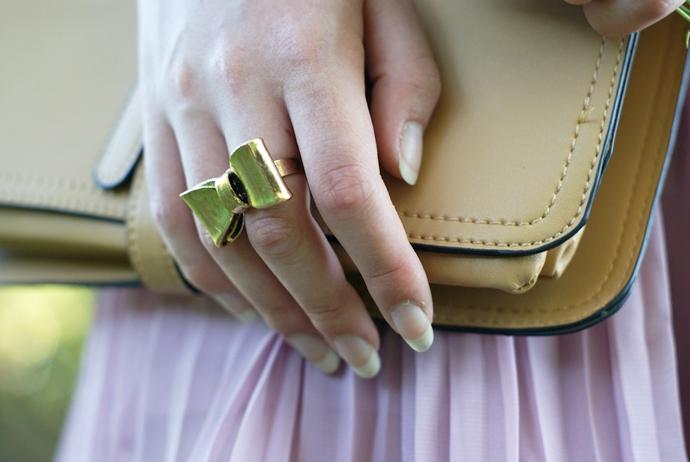 pierścionek kokarda