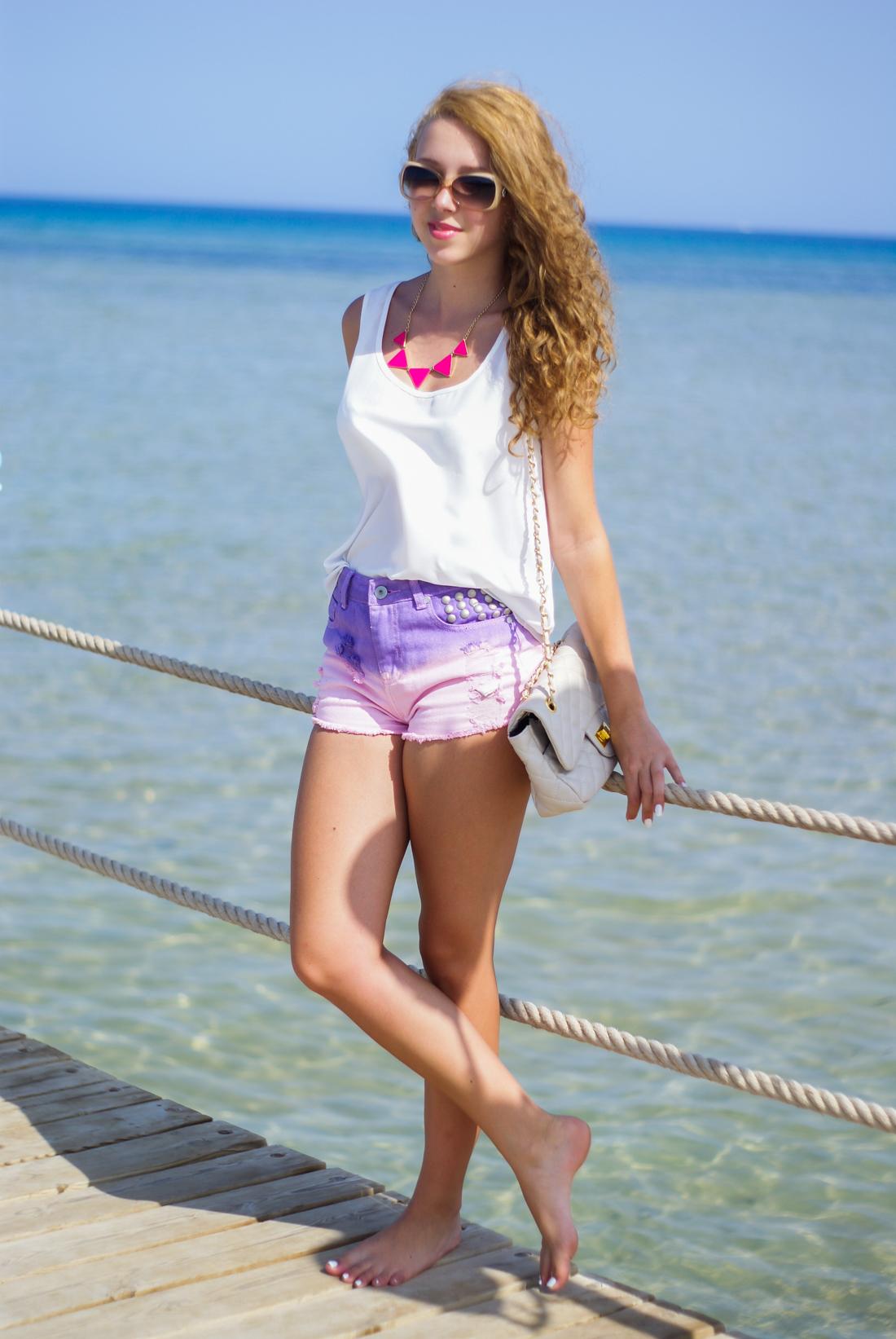 Ombre pastel shorts