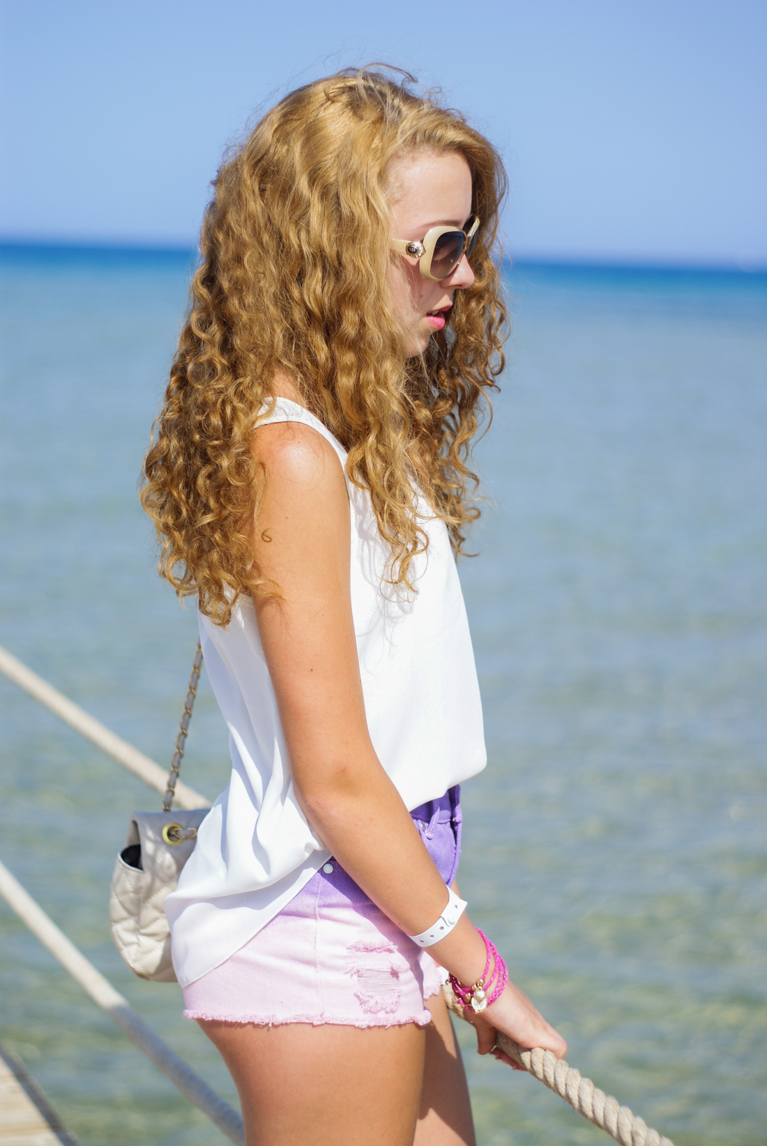 Ombre pastel shorts