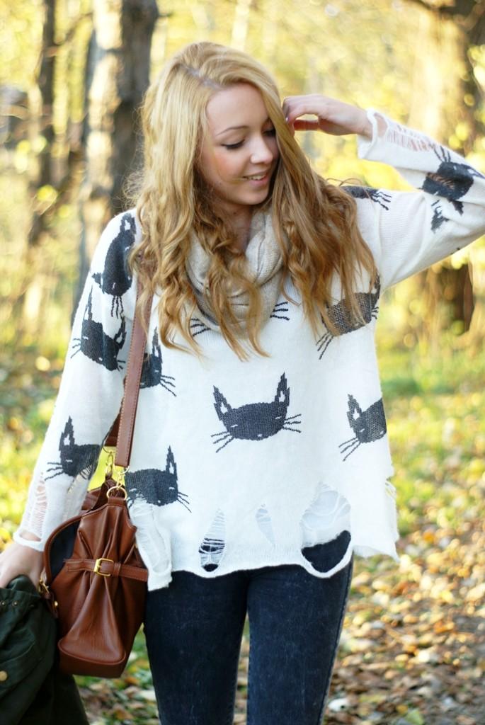 Sweter w koty