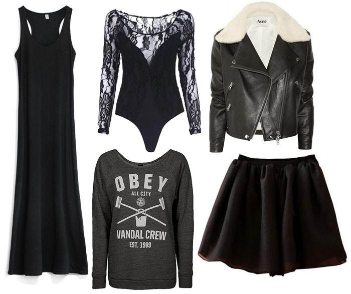 czarne ubrania