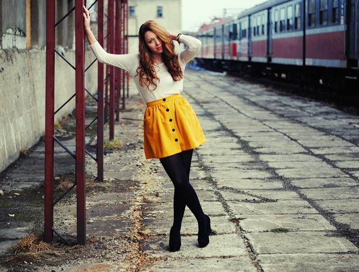 train station photoshoot