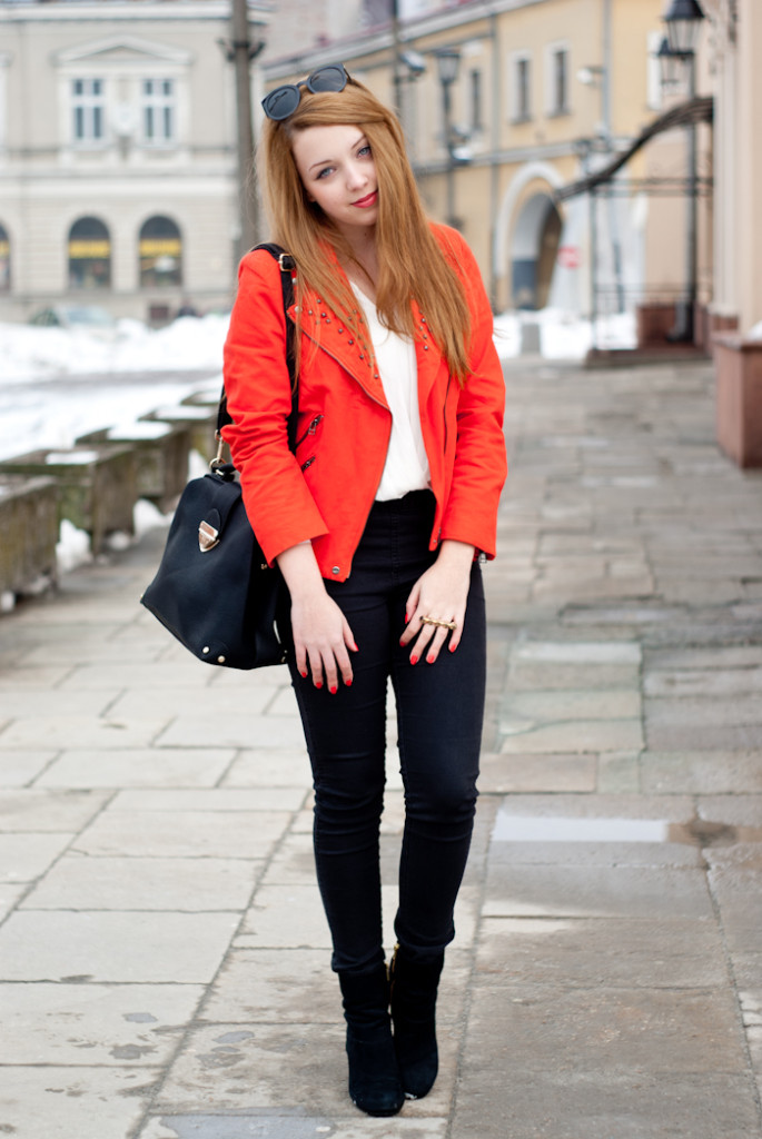 Red jacket