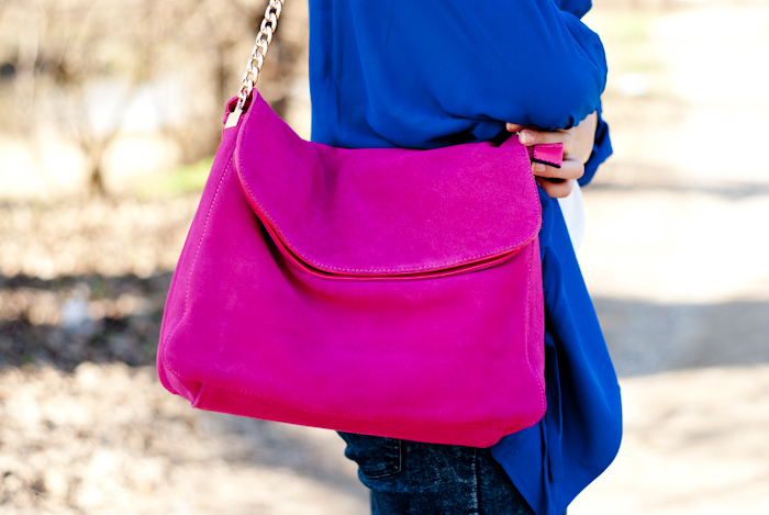 neon pink bag choies