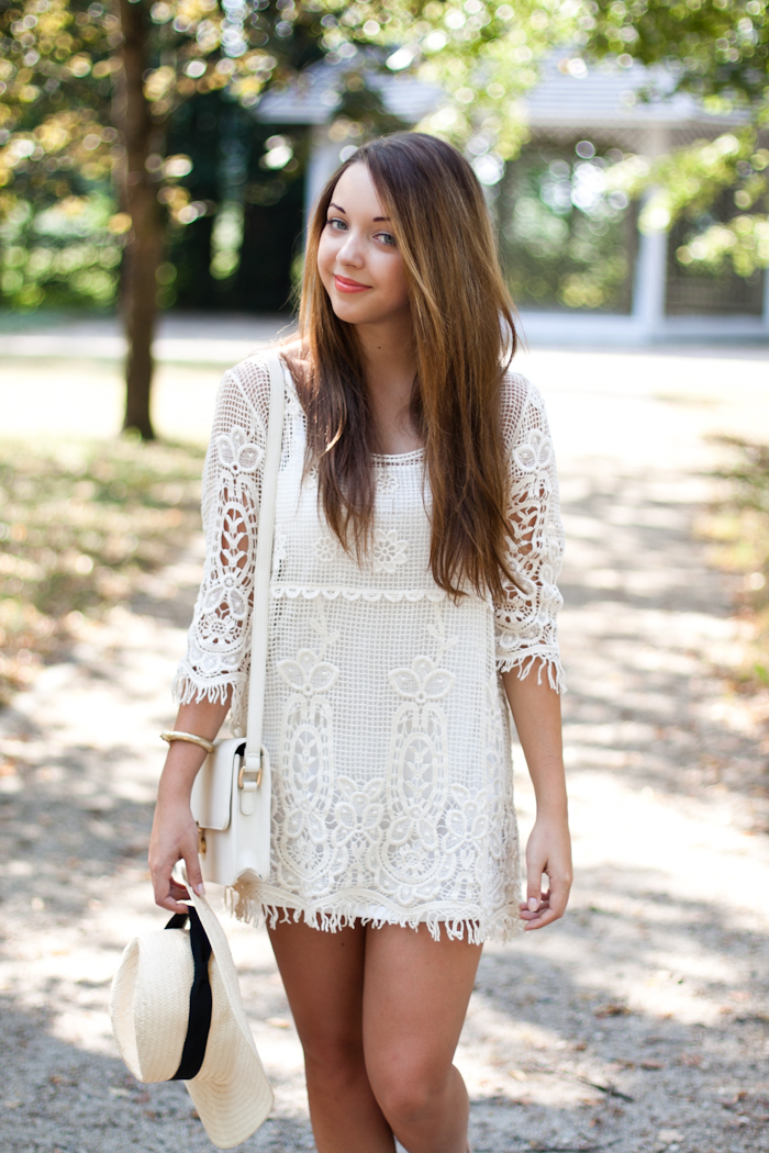 Crochet dress zara