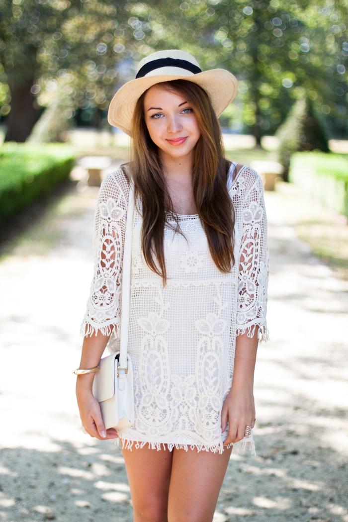 szydełkowa sukienka stylizacja