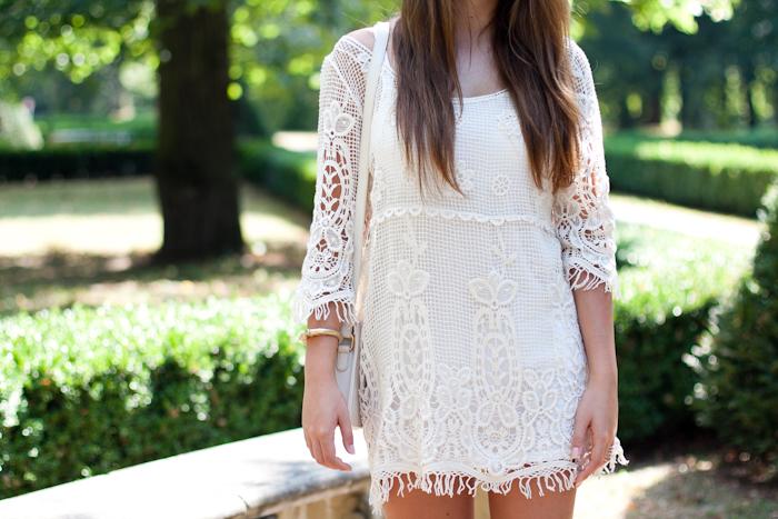 szydełkowa sukienka na lato