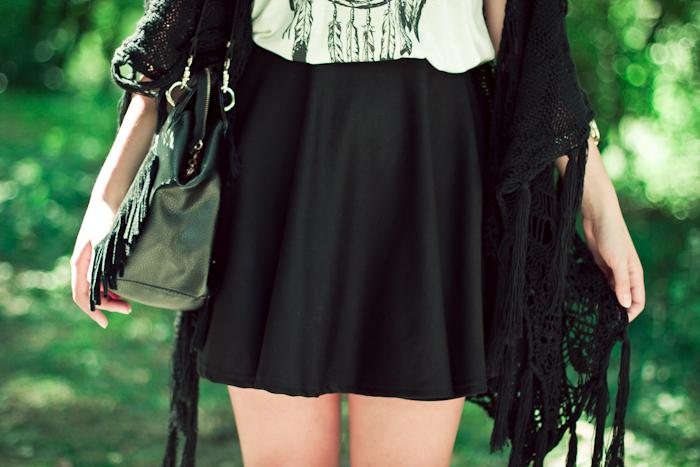 romwe mini black skirt