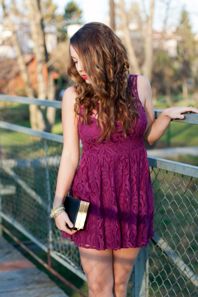 sukienka na bal gimnazjalny, półmetek