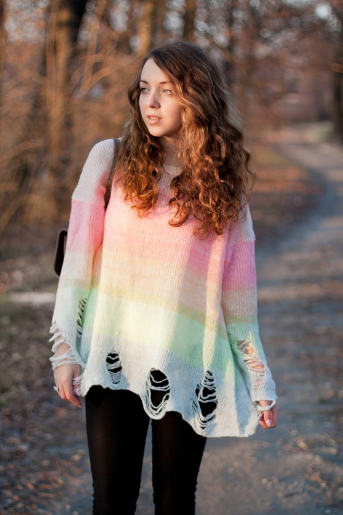 Rainbow Wildfox sweater
