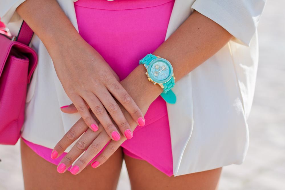 miętowy zegarek geneva