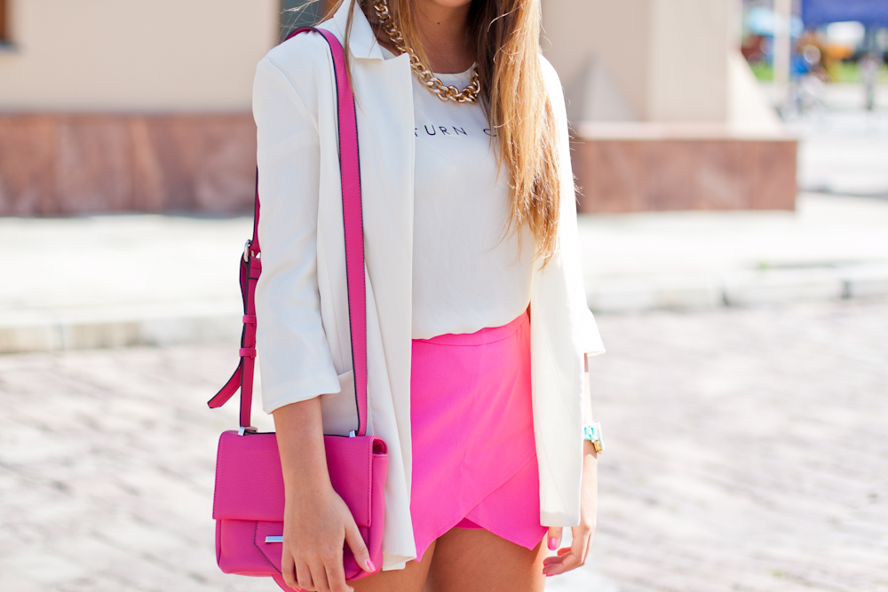 Think pink outfit