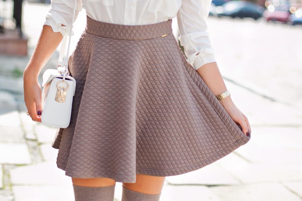 preska pikowana spódnica