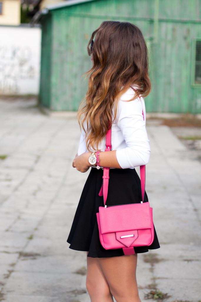 spódnica z mini spódnicą blog modowy