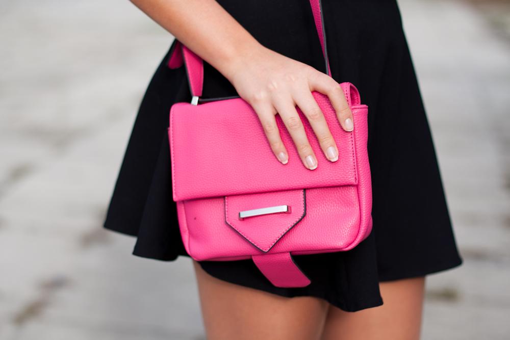 torebka mizensa różowa stylizacja