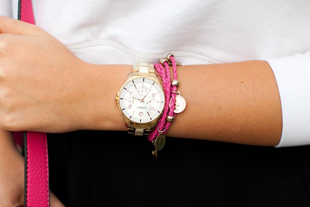zegarek złoty lorus