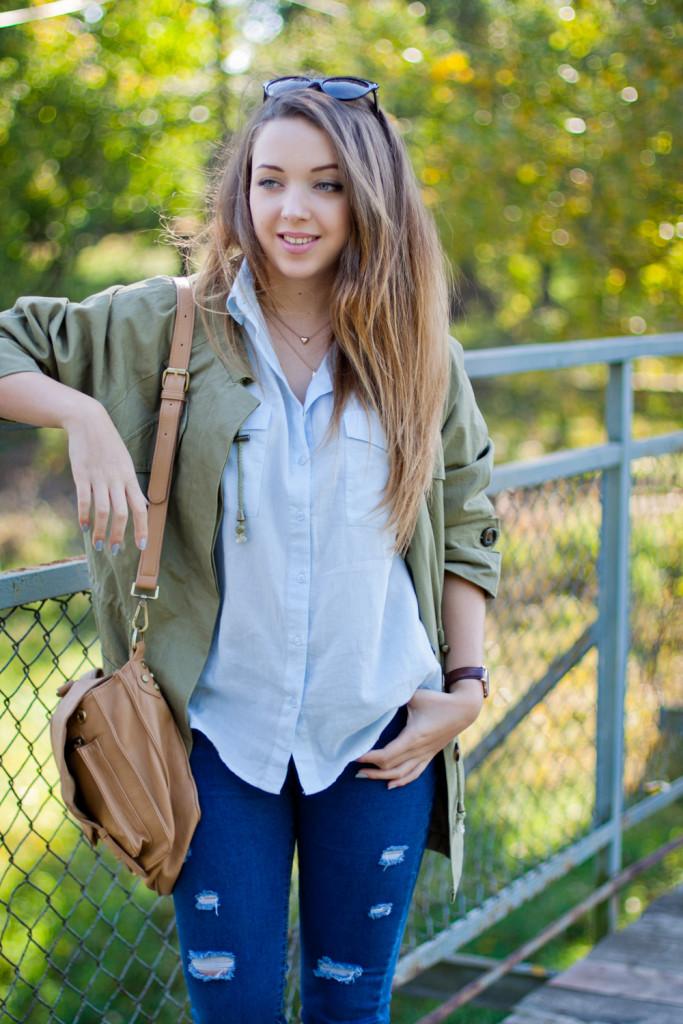 codzienna stylizacja blog modowy jeansy