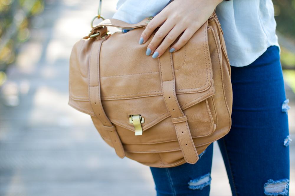 karmelowa torba stylizacja