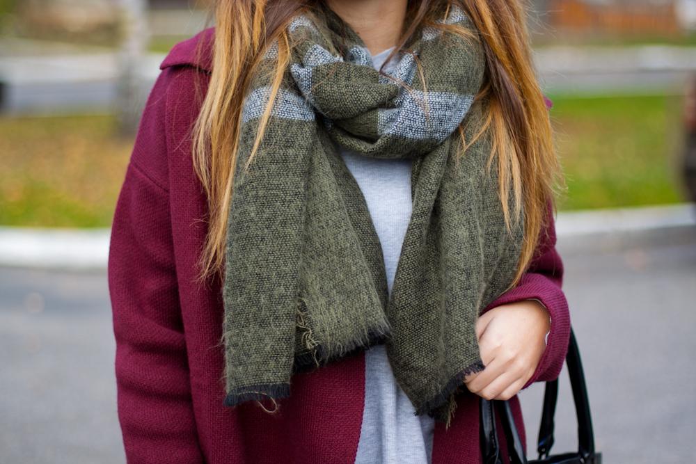 olive green scarf zara