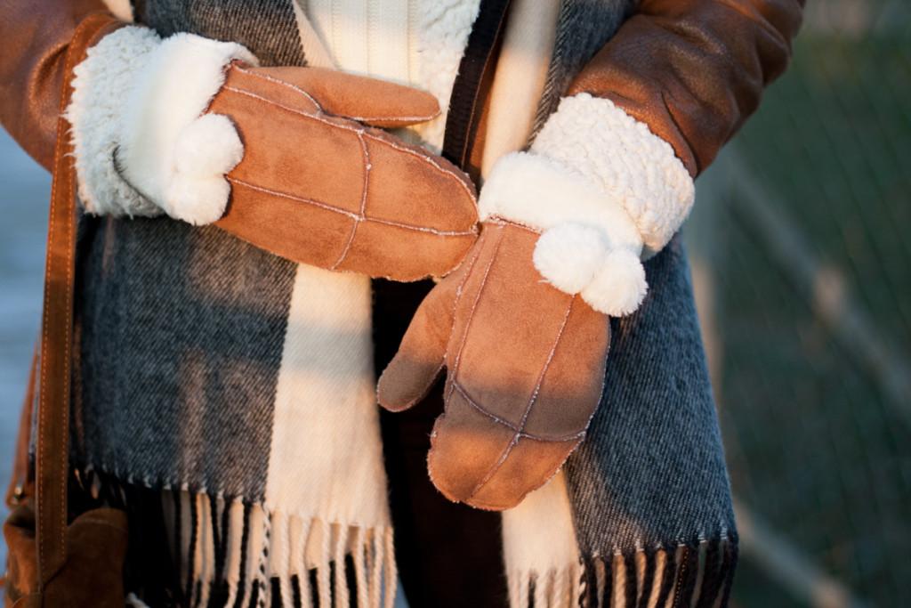 brązowe rękawiczki new yorker