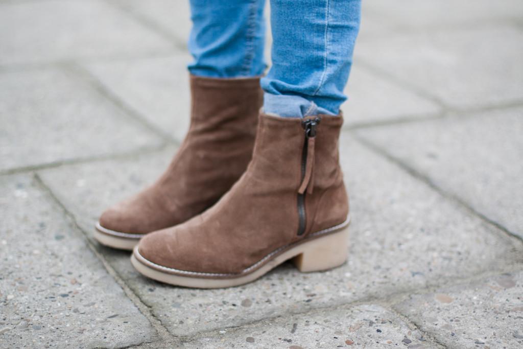 brązowe botki Zara