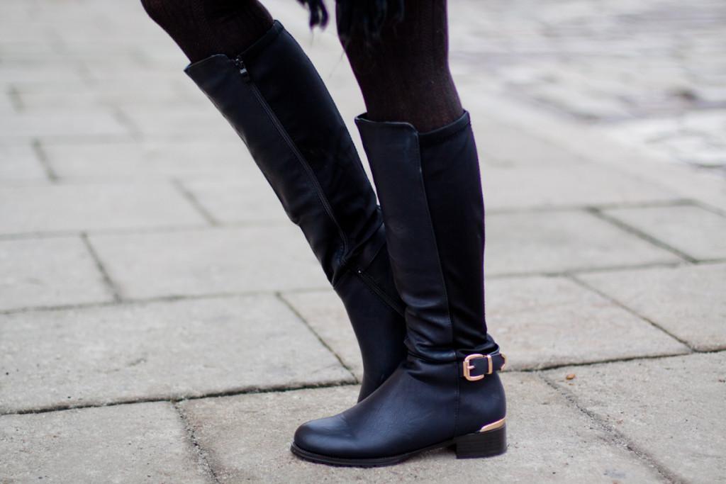 czarne kozaki Czas na buty