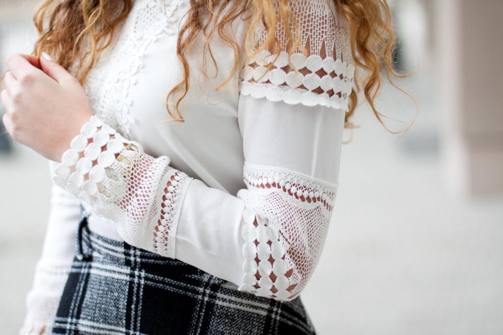lace blouse chicwish