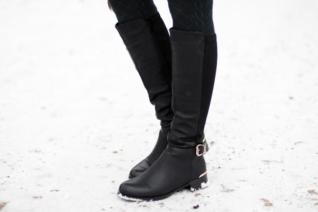 długie czarne kozaki Czas na buty