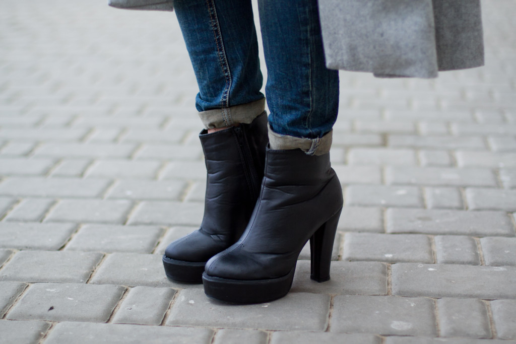 black romwe boots botki