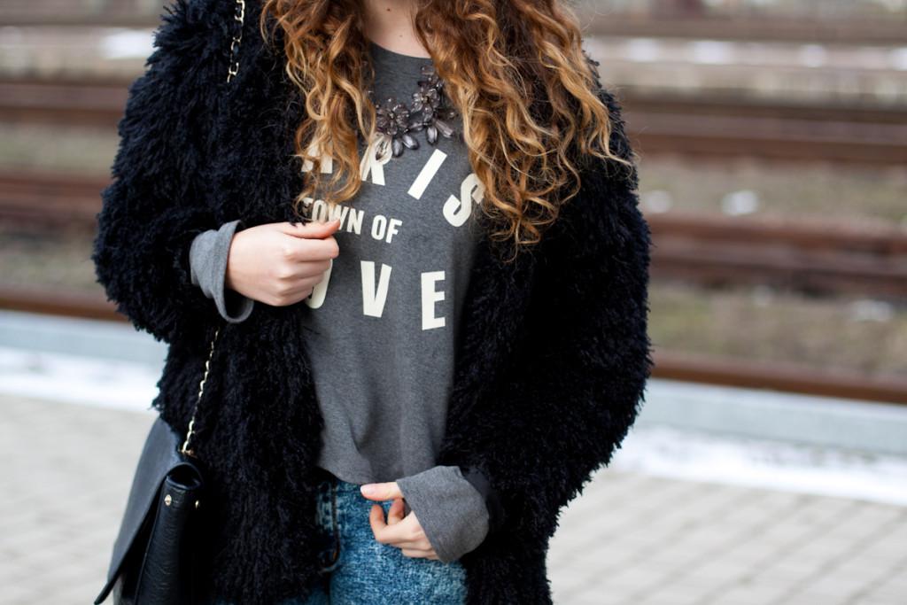 szara bluza romwe