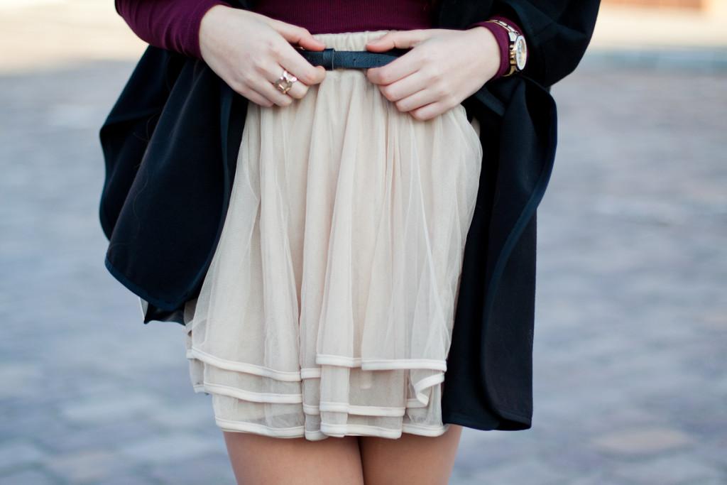 flounced skirt sheinside