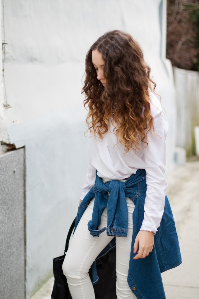 white total look blog