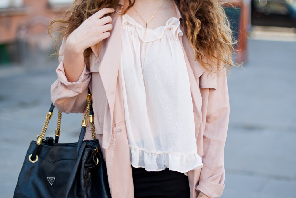 bluzka z falbankami