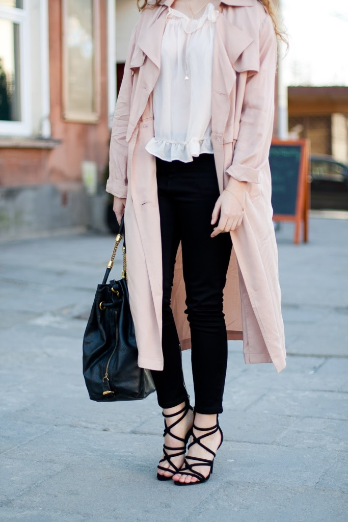 Romantyczny look wiązane buty zara