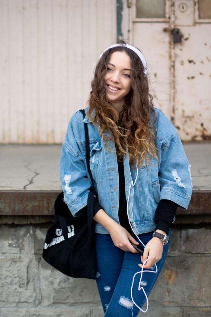 jeansowa kurtka blog