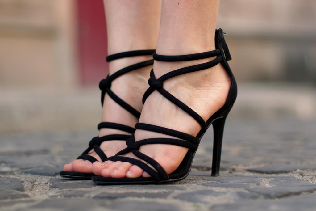 knotted zara heel sandals sandały wiązane
