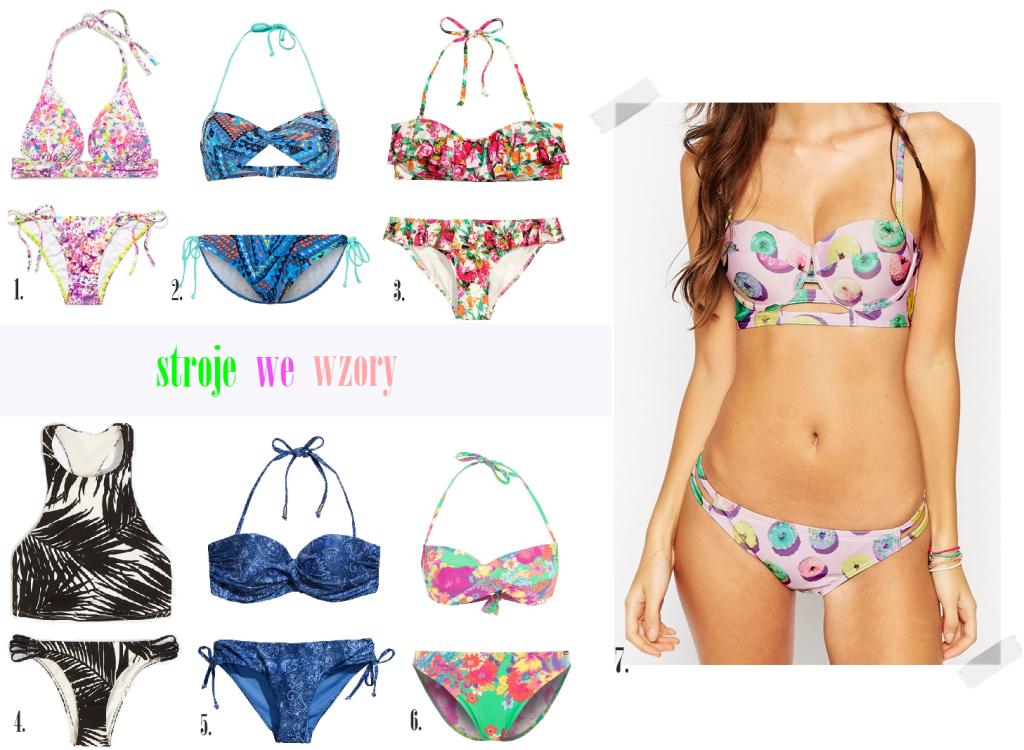 jaki strój stroje kąpielowe bikini we wzory kwiaty azteckie