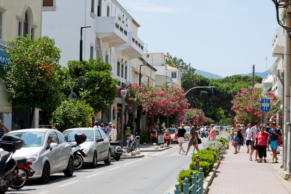 ulice miasta Kos
